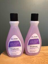 Lot Of 2 Swan Nail Polish Remover Strengthening Vitamin E 6oz