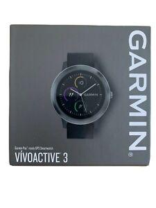 Garmin Vivoactive 3 GPS-Fitness-Smartwatch Aktivitätstracker Fitness Uhr schwarz