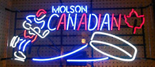 "New Molson Canadian Hockey Beer Bar Neon Light Sign 24""x12"""