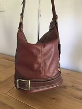 Genuine Italian Brown Leather Back Pack Which Transforms To Bucket Bag/Shoulder