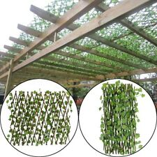 Artificial Vertical Garden Green Wall Foliage Fence Wood Cane Home Yard 70cm