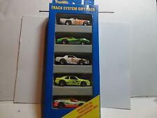 Hot Wheels Track System 5 Car Gift Pack w/Green Corvette Stingray w/Gold 7 Spoke