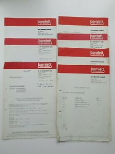 A.C BAMLETT OF THIRSK SERVICE LETTERS 1980s