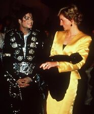 Lady Diana Spencer , Princess of Wales & Michael Jackson 8x10 PHOTO - H862