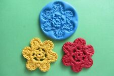 CROCHET FLOWER Mould Cupcakes Chocolate Sugarcraft Cake Topper  Fimo