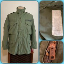 New listing Vtg Usaf Medium Short M-65 Cold Weather Field Jacket 70s Military Air Force Hood