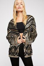 Free People Silversun Jacket Embellished Sequins & Beads NEW Medium $398
