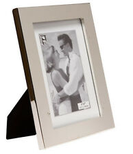 """Silver Photo Picture Frame 4x6"""" & 5x7"""" - Thick Edge 1""""- Shiny Silver"""