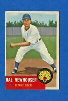 1953 Topps Baseball # 228 HAROLD NEWHOUSER HOF HIGH # SHORT PRINT EXMT/NM