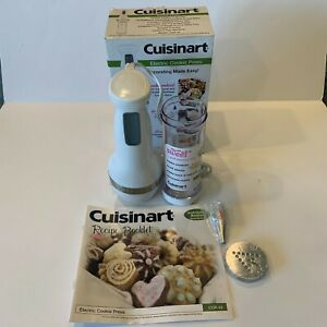 NEW Cuisinart Electric Cookie Press CCP-10 12 Stainless Discs 8 Pastry Tips