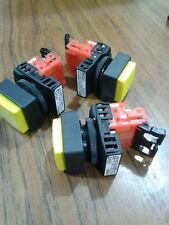 Fuji AR22E0M Illuminated Yellow Square Momentary Push-button Switch