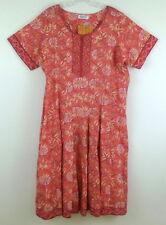 BIBA Shift Dress Short Sleeve Coral Purple Yellow White Print sz 1X 2X 20W NWT