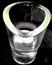 MOET CHANDON CHAMPAGNE GLASS CRYSTAL VOTIVE TEALIGHT CANDLE HOLDER DISPLAY ITEM