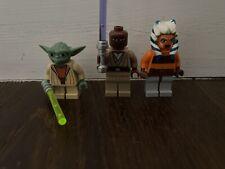 Lego Star Wars Jedi Master Yoda, Mace Windu And Ashoka Tano Minifigures Bundle