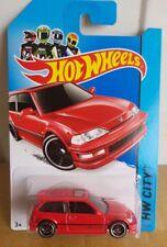 Hot Wheels 2014 - '90 Honda Civic EF - Red [Long Card]