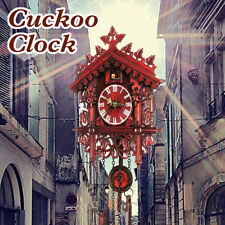 More details for 2019 style handcraft forest clock wood cuckoo clock swing wall home decor