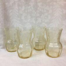 1930's CAMBRIDGE ~ LOT B - 4 <FOUR> GLORIA ETCH GLASSES ~ ELEGANT RARE ITEMS