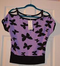 Van Girl woman purple Top Size S