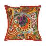 Boho Cotton Decorative 16'' Kantha Cushion Cover Throw Indian Case Vintage Decor