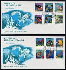 Marshall Islands 168-84 on FDC's - Fish, Marine Life