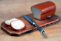 Dolls House 12th Scale - Bread Board With Knife