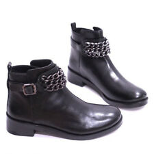 Tory Burch Bloomfield Chain Leather Boots, Black, US Wm Sz 8, MSRP $425,new
