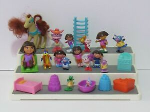 Lg Lot Dora the Explorer Western Horse Dollhouse Pieces Furniture Cake Toppers