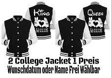 King Queen College Jacket Old School Jacke 2 Stück Partner Look Hipster XS - 2XL