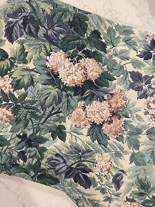 Vintage Laura Ashley Bedskirt Box Pleat Full Size In Ashbourne Floral Pattern