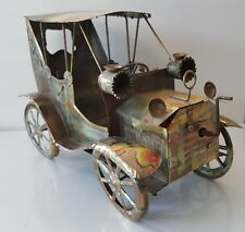 Vtg Crafted Music Box Copper Car KING OF THE ROAD Metal Art Stagecoach Steampunk