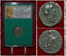 Ancient Roman Empire Coin ANTONINUS PIUS Annona On Reverse Silver Denarius