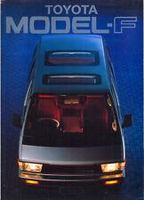 Toyota Model-F MPV 1983 UK market sales brochure