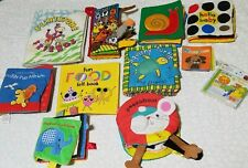 Lot Of 11 Soft, Cloth, Toddler Books material books preschool educational baby