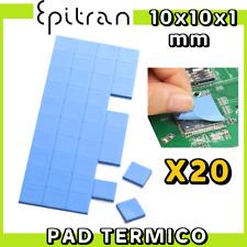 Pad termico thermal per cpu gpu pasta termica 10x10x1mm alta dissipazione calore