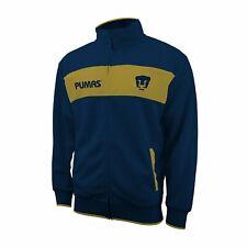 Pumas UNAM 2020 Full Zip Soccer Track Jacket - Blue / Gold