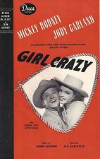 "Judy Garland ""GIRL CRAZY"" George and Ira Gershwin 1944 Decca Records Brochure"