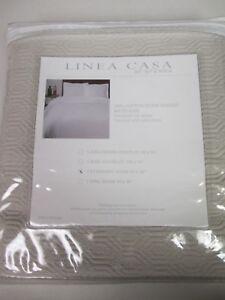 Sferra LINEA CASA Stone Washed Gray Geometric Matelasse Standard Sham