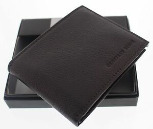 Geoffrey Beene Wallet Men's Bilfold Brown With Free Shipping And Gift Box
