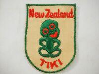 New Zealand Tiki fabric souvenir Badge patch Vintage