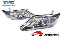 Pair LH+RH Head Light Lamp For Toyota Camry AHV40 Hybrid 09~11 Bluish Chrome