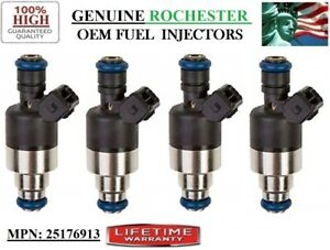 4 Fuel Injectors for 1996-2001 Saturn SL1 1.9L I4 OEM Rochester #25176913-Refurb