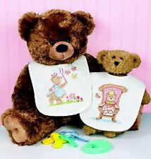 Baby Princess Bibs Stamped Cross Stitch Kit Pack Of 2 Dimensions
