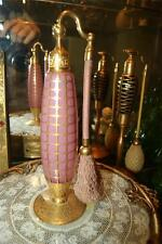 Lavish Antique DeVilbiss Tall Pink Perfume Atomizer see my store for more