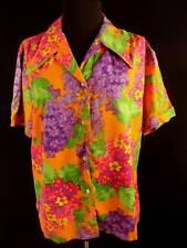 Plus Size Vintage 1960'S Mod Colorful Blouse Sz 46
