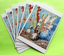 Van Gogh Note Cards - Set of 6 - Still Life: Vase with Red Gladioli