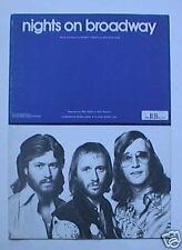 Bee Gees Original Sheet Music Nights of Broadway