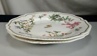 """Pair Antique Old Paris Porcelain 10.5"""" Plates -  57350"""