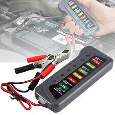 Car Motorcycle Digital Battery Alternator Load Tester 6 LED Display 12V Vehicle