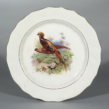 Vintage French Plate, Pheasant, Bird,Orchies, Moulin des Loups, Hamage