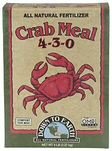 Down to Earth Organic Crab Meal Fertilizer Mix 4-3-0 5 lb